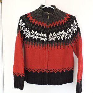 Sonoma Fair Isle sweater petite EUC